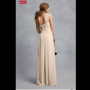 White by Vera Wang Dresses - VERA WANG Sheer Strap 1 Shoulder Sheath Dress. 20